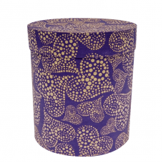 Коробка подарочная Цилиндр, Сердца, Фиолетовый, 21*21*23 см, 1 шт.