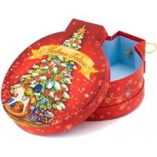 Коробка подарочная С Новым Годом! (нарядная елочка), Красный, 20*18*7 см, 1 шт.