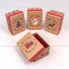 Коробка подарочная С Новым Годом, Крафт, 11*7*5 см, 12 шт.
