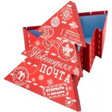Коробка подарочная Елочка, Новогодняя почта, Красный, 18*16*7 см, 1 шт.