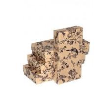 Коробка подарочная, Птичий рай, Крафт, 16*8*3 см, 1 шт.