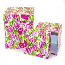 Набор коробок Танго тюльпанов, 13*13*17 см, 2 шт.