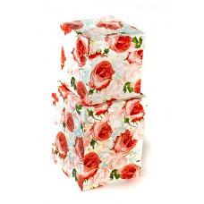 Набор коробок Розовый аромат, Красный, 13*13*17 см, 2 шт.