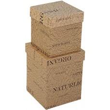 Набор коробок Экошик, Крафт, 13*13*17 см, 2 шт.
