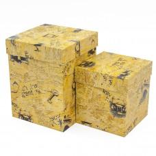 Набор коробок Новости из Лондона, Крафт, 13*13*7 см, 2 шт.
