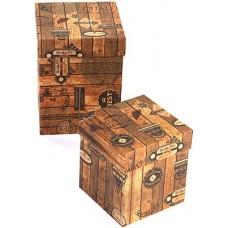 Набор коробок Винтажный ящик, Крафт, 13*13*17 см, 2 шт.