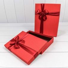 Набор коробок Атласный бант, Красный, 31*24*7 см, 2 шт.