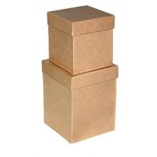 Набор коробок Крафт, 13*13*17 см, 2 шт.
