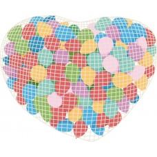 Сетка в форме Сердца для сброса/запуска на 400 шаров