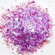 Конфетти фольга Блестки, Хамелеон, Ярко-розовый, Голография, 20 гр.