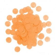 Конфетти тишью Круг, Оранжевый, 1 см, 7 г.