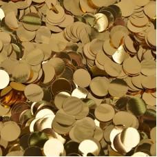 Конфетти фольга, Круги, Золото, 1 см, 50 гр