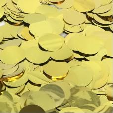 Конфетти фольга, Круги, Золото, 2 см, 50 гр