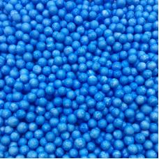 Шарики пенопласт, Голубой, 6-8 мм, 500 мл.