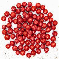 Шарики пенопласт, Красный, Металлик, 7-10 мм, 250 мл.