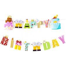 Гирлянда Happy Birthday, Вечеринка, 165 см, 1 шт.