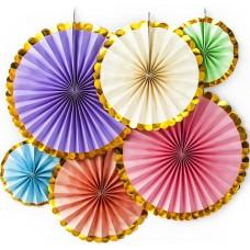 Набор дисков Золотой декор, Ассорти, Металлик, 40 см, 6 шт.