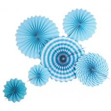 Набор дисков Микс дизайнов, Голубой, 40 см, 6 шт.