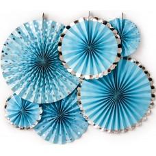 Набор дисков Микс дизайнов, Голубой/Серебро, Металлик, 40 см, 6 шт.
