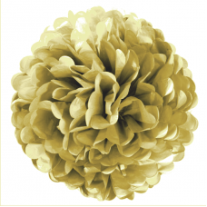 Помпон, Золото (10''/25 см) 1 шт.