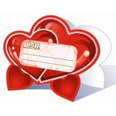 Банкетные карточки для стола, Сердца, 20 шт