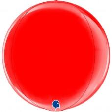 Шар (18''/46 см) Сфера 3D, Красный, 1 шт.