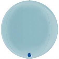Шар (18''/46 см) Сфера 3D, Голубой, 1 шт.