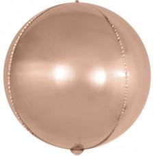 Шар (18''/46 см) Сфера 3D, Розовое Золото, 1 шт.