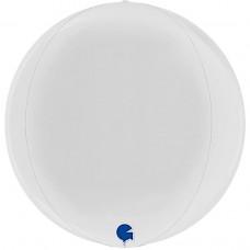 Шар (18''/46 см) Сфера 3D, Белый, 1 шт.
