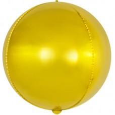 Шар (18''/46 см) Сфера 3D, Золото, 1 шт.