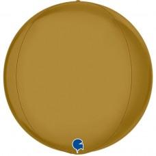 Шар (18''/46 см) Сфера 3D, Золото, Сатин, 1 шт.
