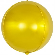Шар (15''/38 см) Мини-сфера 3d, Золото, 1 шт.