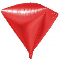 Шар 3D (24''/61 см) Алмаз, Красный, 1 шт.
