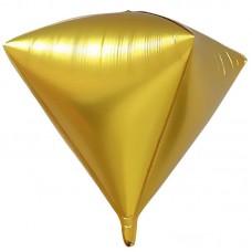 Шар 3D (20''/51 см) Алмаз, Золото, 1 шт.