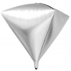 Шар 3D (20''/51 см) Алмаз, Серебро, 1 шт.