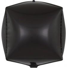 Шар 3D (24''/61 см) Куб, Черный, 1 шт.