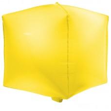 Шар 3D (20''/51 см) Куб, Макарунс, Лимонно-желтый, 1 шт.
