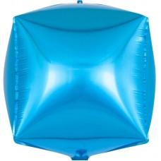 Шар 3D (24''/61 см) Куб, Голубой, 1 шт.