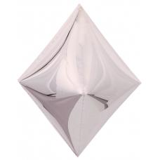 Шар 3D (21''/53 см) Ромб, Серебро, 1 шт.