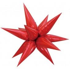 Шар (26''/66 см) Фигура, Звезда составная, Красный, 1 шт. в упак.