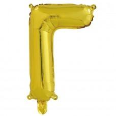 Шар с клапаном (16''/41 см) Мини-буква, Г, Золото, 1 шт. в упак.