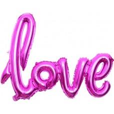 "Шар (41''/104 см) Фигура, Надпись ""Love"", Фуше, 1 шт."