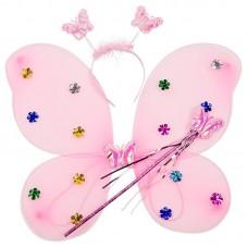 Набор Фея (крылья, ободок, волшебная палочка), Розовый