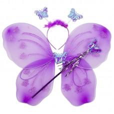 Набор Фея (крылья, ободок, волшебная палочка), Фиолетовый