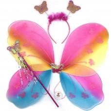Набор Фея (крылья, ободок, волшебная палочка), Радужный