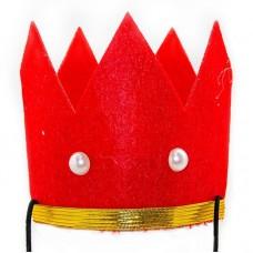 Красная корона, фетр