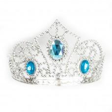 Ободок Корона для принцессы, Голубой, Металлик, 1 шт.