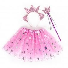 Набор (ободок, юбочка, волшебная палочка) Принцесса Звездочка, Розовый, 1 шт.