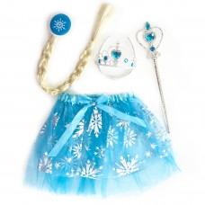 Набор (ободок, косичка, юбочка, волшебная палочка) Снежная Принцесса, 1 шт.