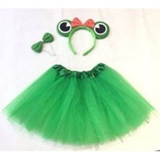 Набор (ободок, юбочка, бантик) Веселый лягушонок, Зеленый, 1 шт.